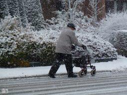 Ouderen in de winter